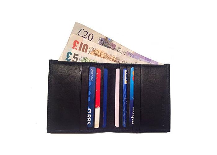 QUALITY Real Leather Credit Card Wallet Holder Slim Mini Travel Business Money_| Slim Wallet | Travel Wallet | Mini Wallet for Men_UK - 1