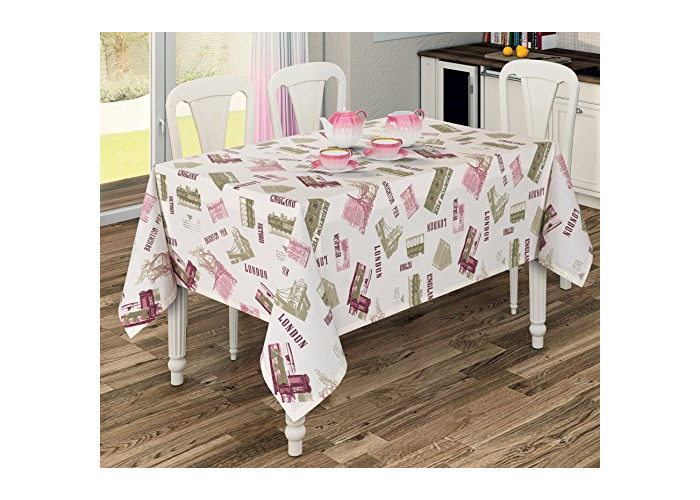 """Quality Water Repellent Polycotton Tablecloth 130 x 170CM - 51"""" x 67"""" [T002] - 1"""