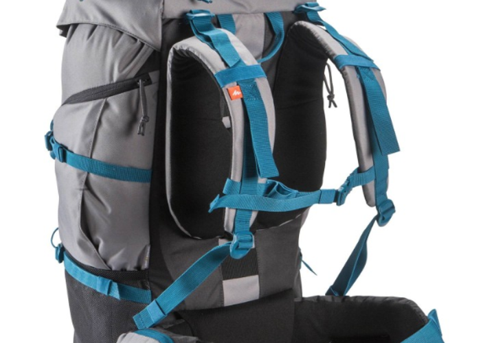 Quecha hiking padded back and shoulder support backpack - 2