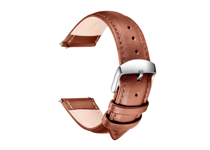 Quick Release Leather Watch Strap- SONGDU Grain Genuine Replacement Band with St - 1