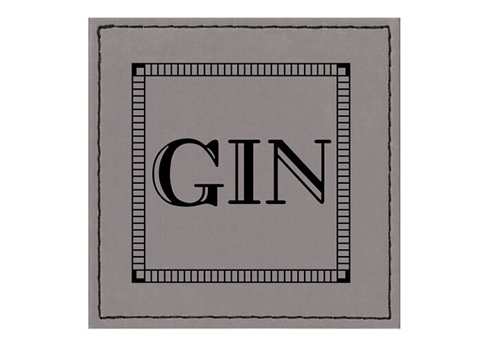 Raising Spirits Grey Faux Leather Gin Coaster - 1
