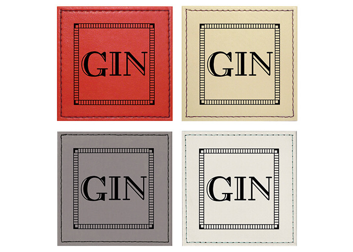 Raising Spirits Mixed Faux Leather Gin Coasters, Pack Of 4 - 1