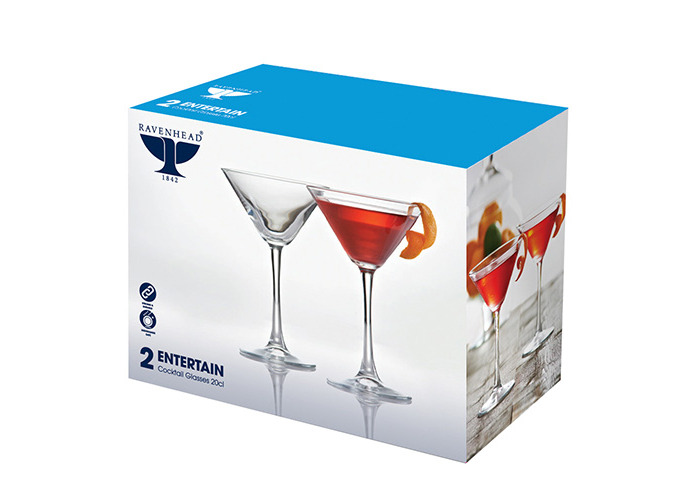 Ravenhead Entertain Cocktail Glasses Pack 2 24cl - 2