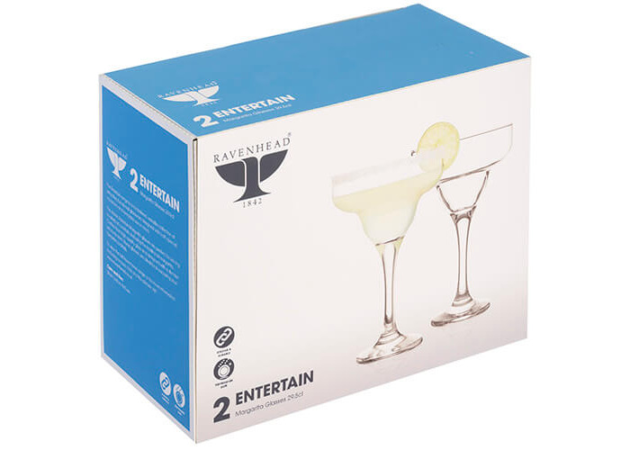 Ravenhead Entertain Set of 2 Highly Transparent 29.5 Cl Margarita Glasses, 22 x 12 x 18 cm - 2