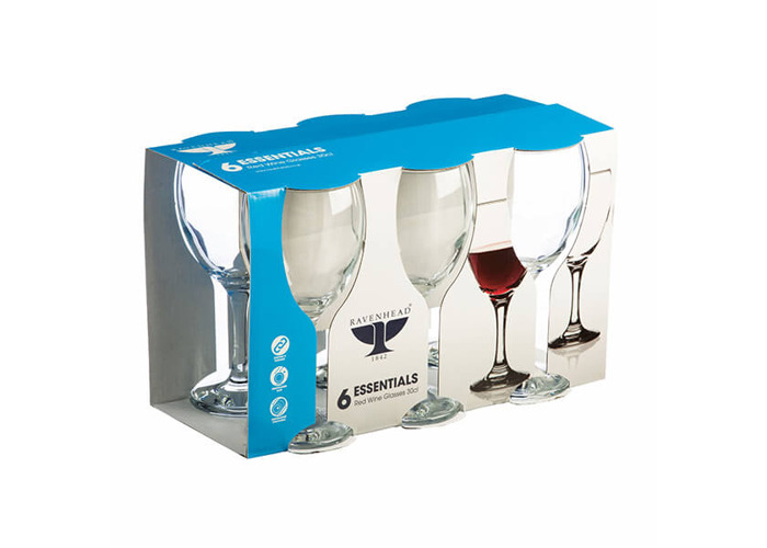 Ravenhead Essentials 300ml Set Of 6 Red Wine Glasses - 2