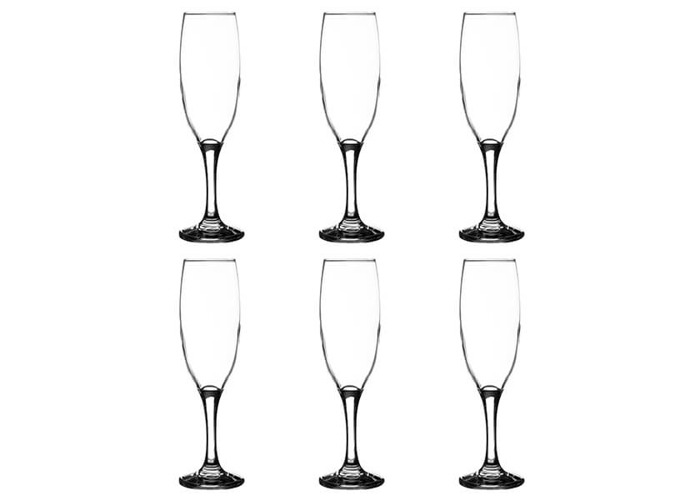 Ravenhead Essentials Sleeve of 6 22cl Flute Glasses - 1