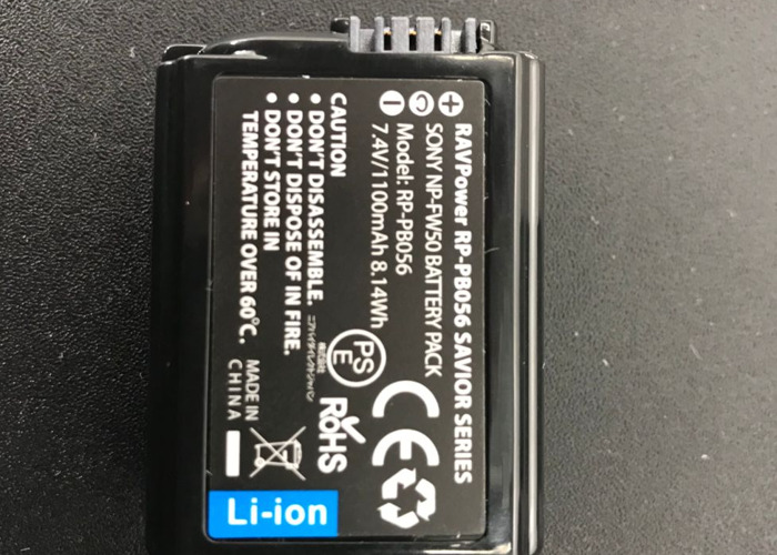 RAVPower 1 NP-FW50 4-Pack Camera Battery for Sony + Charger - 2