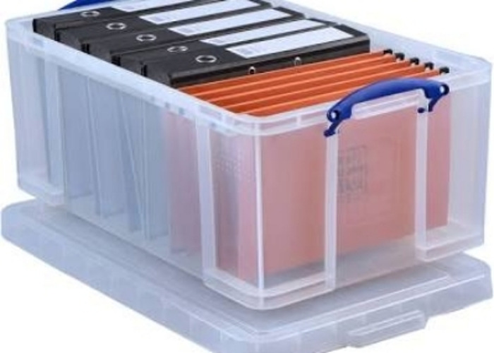 Really Useful 64 Litre Storage Box, Clear   - 1