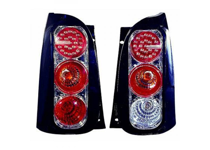 Rear Tail Lights Pair Set LED Clear Black For Mercedes Smart Coupe Cabrio 98-06 - 2