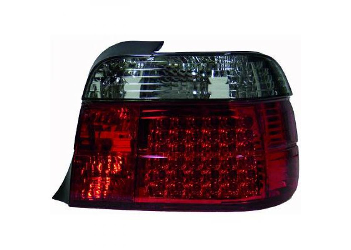 Rear Tail Lights Pair Set LED Clear Red Black For BMW 3 Series E36 Compact 90-99 - 2