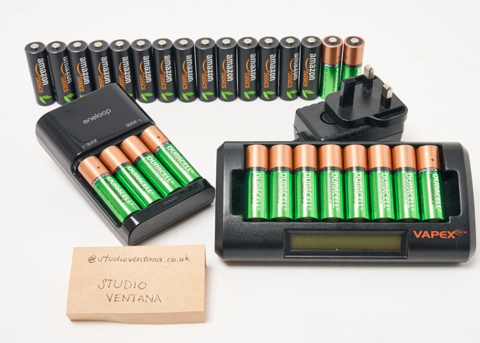 Rechargeable AA Battery Set (28 pieces) - 1