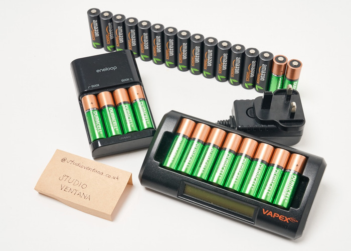 Rechargeable AA Battery Set (28 pieces) - 2