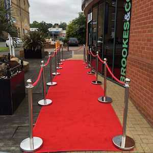 Red Carpet with Posts and Ropes Package 2 - 1
