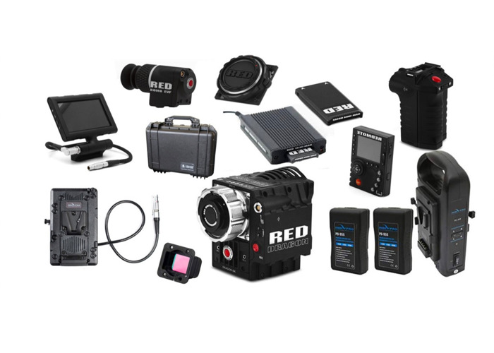 """Red Epic-X Dragon 6K +  OLPF (low-light, Skin-Tone, Standard) + PL/EF plates + 1.5TB Fast MiniMag + Red Pro Touch 5"""" TouchScreen + 4 Batteries + 1 EF Lens + XLR cable + More - 2"""