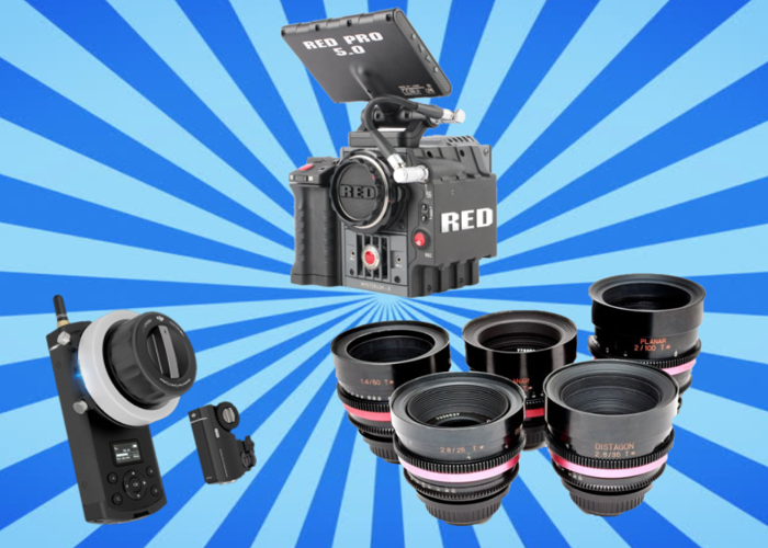 Red Scarlet Camera Package F w 5 x Cine housed Zeiss Contax Lenses ( 25mm / 35mm / 50mm / 85mm / 100mm ), DJI Wireless Follow Focus,  Memory, Batteries - 1
