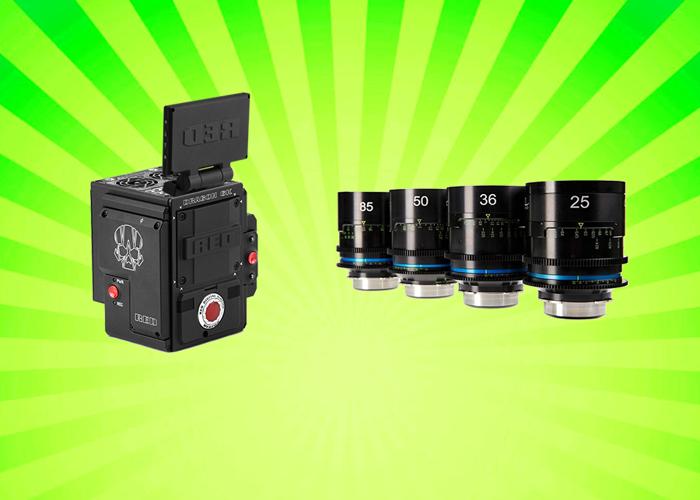 RED Weapon Dragon 6K Camera + Celere HS Prime Lens Set - 1