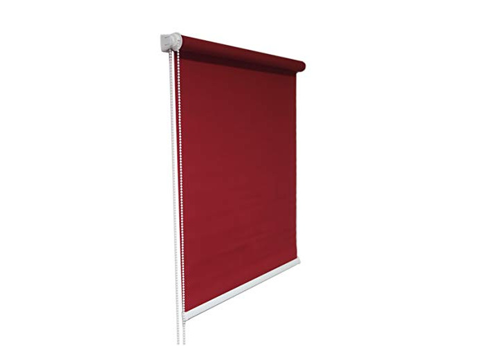 Red Window Roller Blind Choice of 19 Width Sizes, 200cm Drop, 140cm wide (+4.5cm fittings) - 1