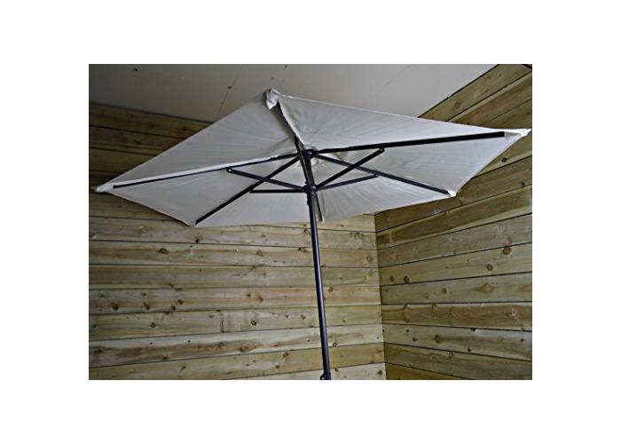 Redwood Leisure Redwood BB-UB119 2.1m Steel Parasol-Cream Umbrella, Sun Shade - 1
