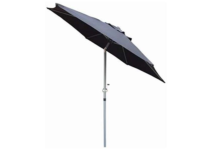 Redwood Leisure Redwood BB-UB128 2m Aluminium Tilting Parasol with Crank- Black Umbrella, Sun Shade - 1