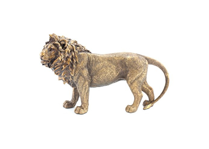 Reflections Bronzed Standing Large Lion Statue - King of The Jungle Lion Lover Gift Figurine Brand New in Box - 1