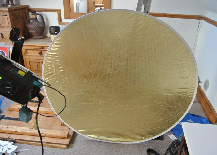 Reflector 4' Large Gold/White Flex Fill Circular Folding - 2