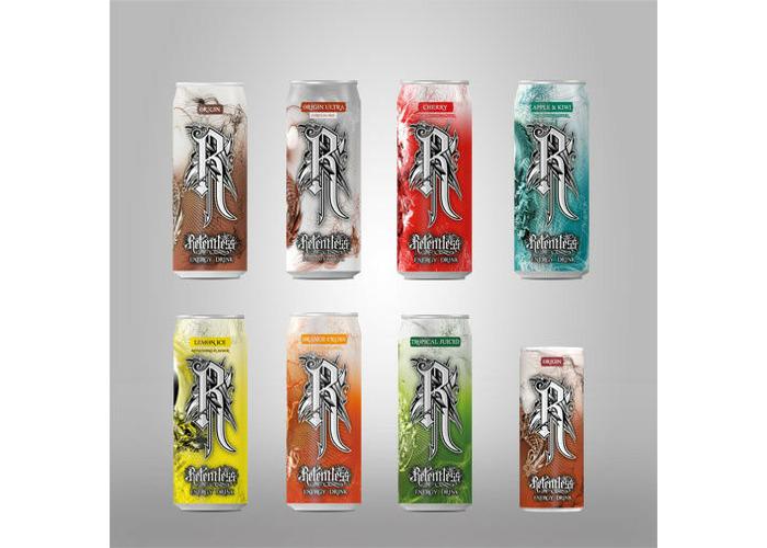 Relentless Energy Drinks 12 x 500ml multi various types - 1