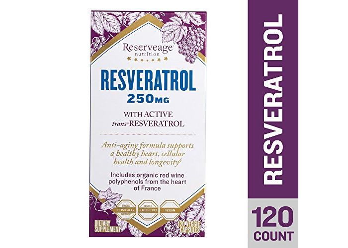 Reserveage Nutrition Resveratrol 250mg (Certified Organic, 120 Vegetarian Capsules) - 1