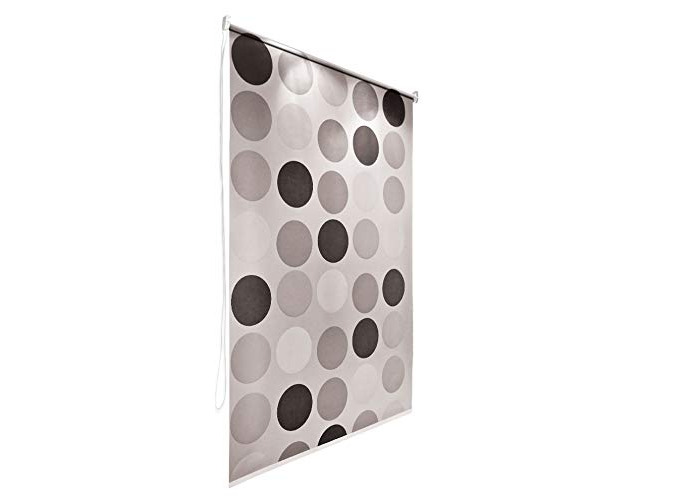 Retro Bathroom Shower Curtain Roller Blind Extra Long, 4 Width Sizes, 120 x 240CM - 1