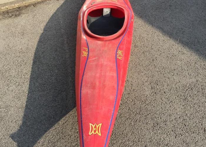 Retro Red Perception Reflex Kayak (Small) - 1