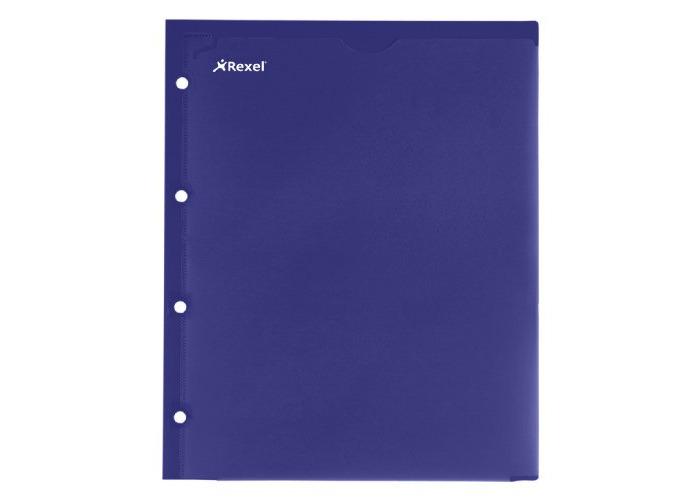 Rexel Advance 2-Pocket Customisable Polypropylene Folder A4 Navy  (2 Pockets) - 1