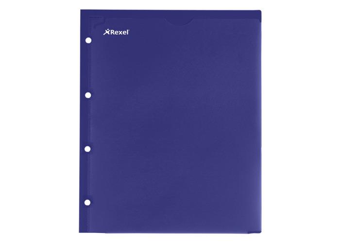 Rexel Advance 2-Pocket Customisable Polypropylene Folder A4 Navy  (2 Pockets) - 2