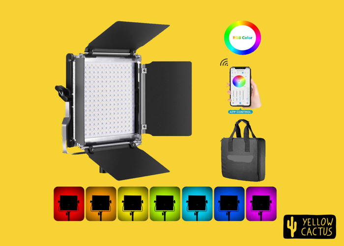 Led Panel RGB with Stand - Video and Photo Lights App Controlled ( Alternative to Arri Skypanel, Aladdin or FalconEyes) - 1