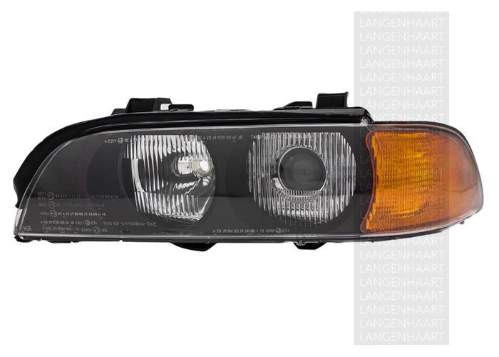 RHD Front Left Headlight x1 Halogen Car Replacement Spare Fits BMW 5 11.95-08-00 - 2