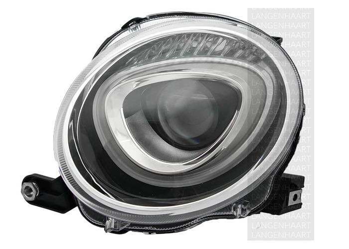 RHD Front Left Headlight x1 Halogen Car Replacement Spare Fits Fiat 500 10.07-On - 2