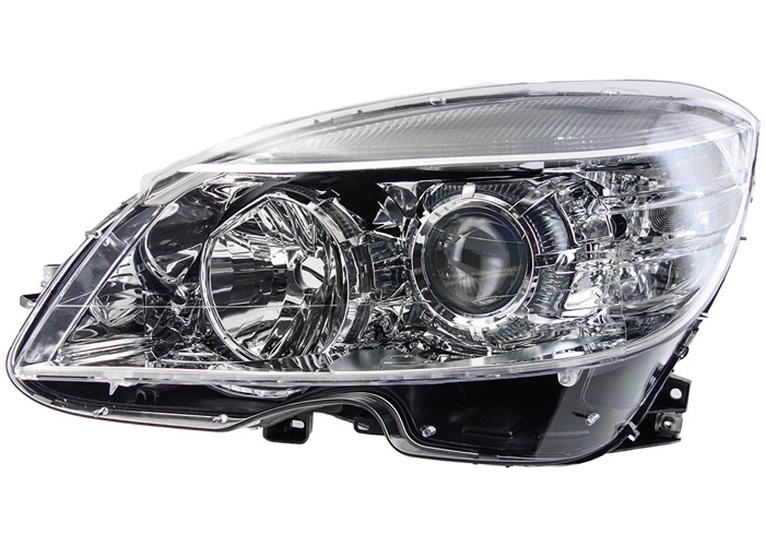 RHD Front Left Headlight x1 Halogen Fits Mercedes-Benz C-Class 01.07-01.14 - 1