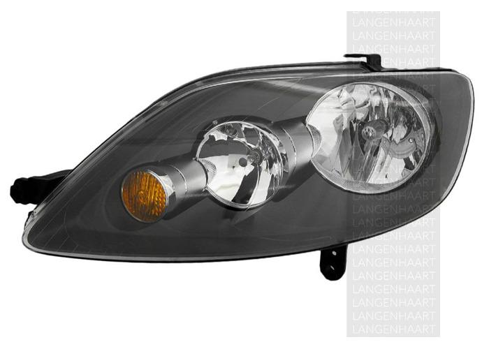 RHD Front Left Headlight x1 Halogen Replacement Fits VW Golf Plus 01.05-12.13 - 2