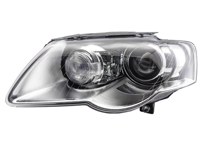 RHD Front Left Headlight x1 Xenon Replacement Spare Fits VW Passat 03.05-11.10 - 1