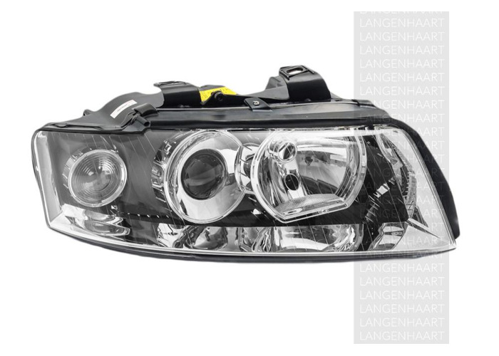 RHD Front Right Headlight x1 Halogen Replacement Spare Fits Audi A4 11.00-12.04 - 2