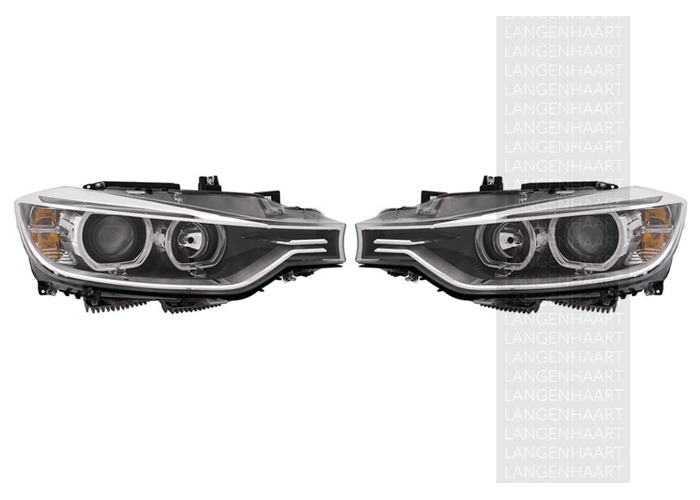 RHD Front Right Left Headlights Set Halogen LED Spare Fits BMW 3 10.11-On - 1