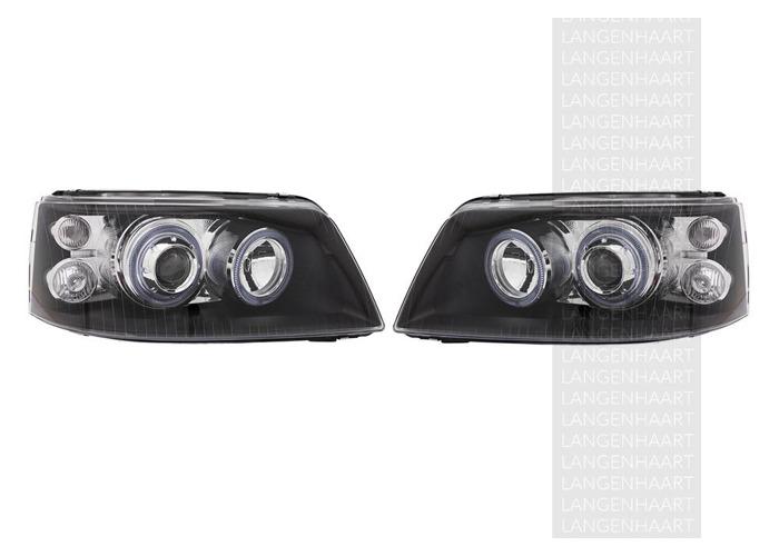 RHD LHD Front Right Left Angel Eye Headlights Set Halogen Fits VW Transporter / - 1