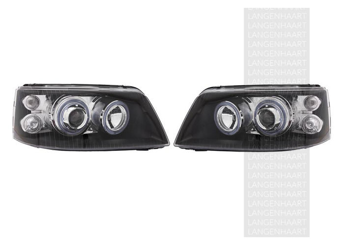 RHD LHD Front Right Left Angel Eye Headlights Set Halogen Fits VW Transporter / - 2