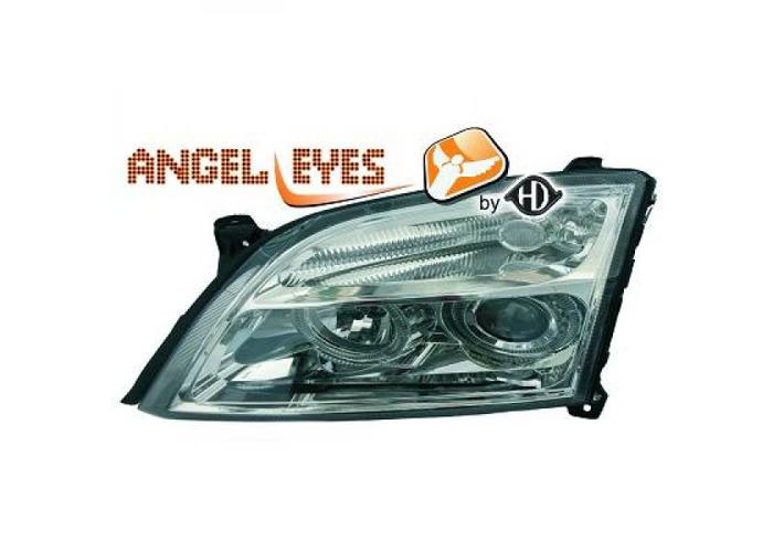 RHD LHD Projector Headlights Pair Angel Eyes Clear Chrome For Vauxhall Signum - 1