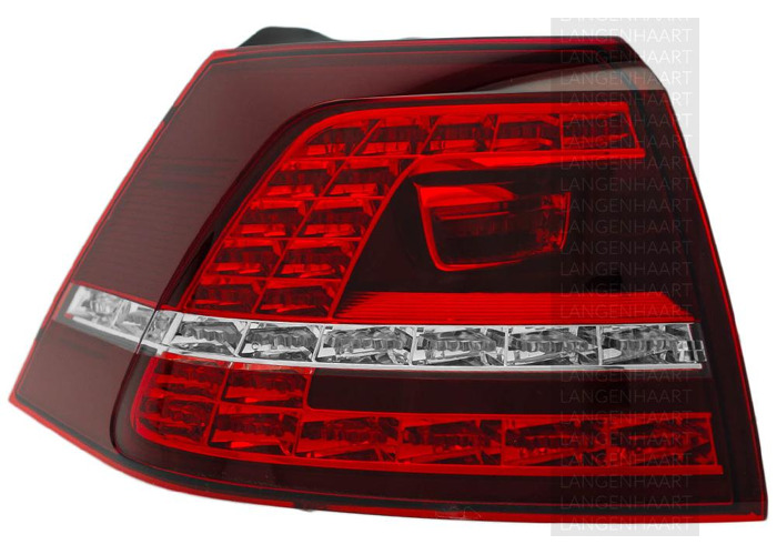 RHD LHD Rear Left Outer Rear Light x1 LED Spare Fits VW Golf Vii 08.12-On - 2