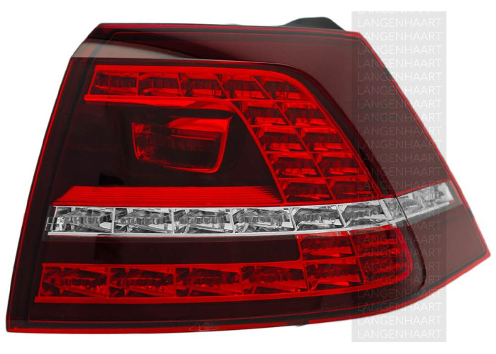 RHD LHD Rear Right Outer Rear Light x1 LED Spare Fits VW Golf Vii 08.12-On - 1
