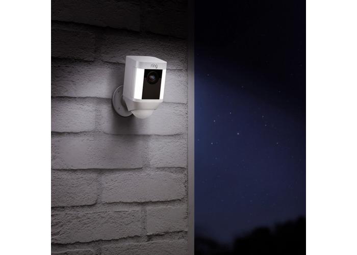 Ring Smart Spotlight Camera, Battery, Black - PACK OF TWO - 1