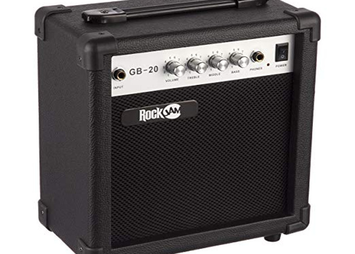 RockJam Full Size Bass Guitar With amp, - 2