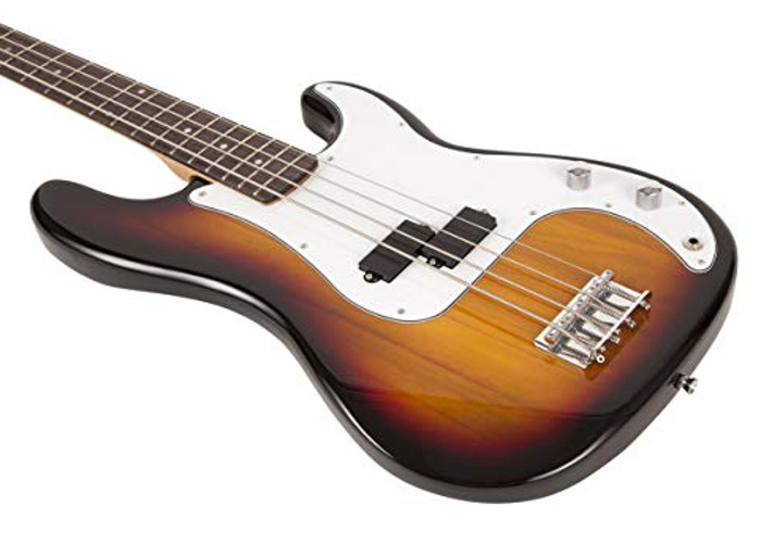 RockJam Full Size Bass Guitar With amp, - 1