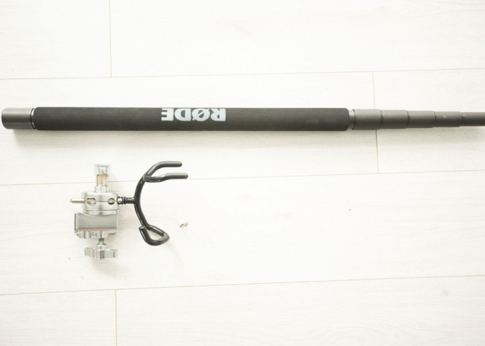 Rode 3m boom pole with boom support bracket - 1