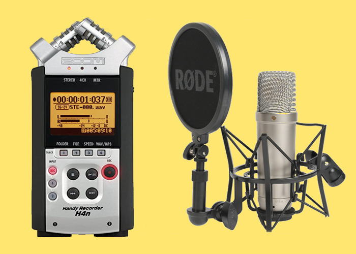 Rode NT1a NT1-a Condenser Microphone with Zoom H4n Recorder - 1