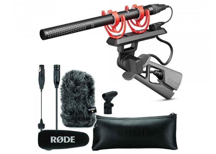 Rode NTG5 Short Shotgun Microphone : Lightweight Mic + Moisture-Resistant + Windscreen + Pistolgrip Shockmount + XLR cable + Boompole - 1
